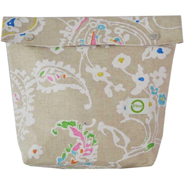 Toiletttasche Floral Beige Large