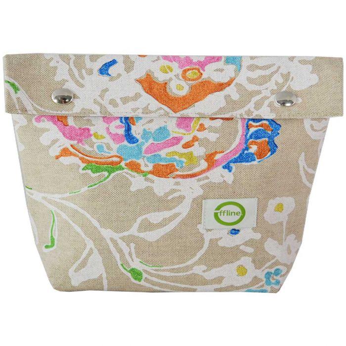 Toiletttasche Floral Beige Medium