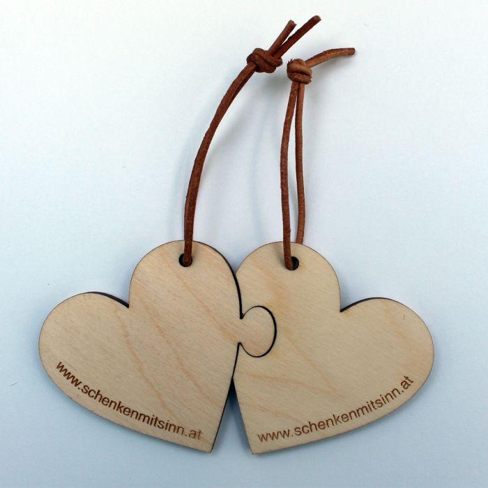 Holzschlüsselanhänger Herz