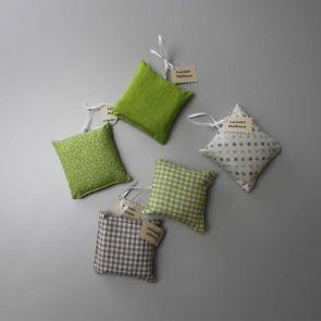 Lavendelkissen 5er Set (grün)