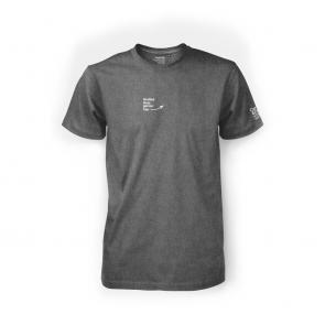 """T-Shirt """"Großes Herz genau hier"""" Herren Anthrazit"""