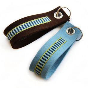 JU_CAN Schlüsselanhängerset braun/blau